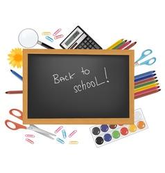 back to school black desk vector image vector image