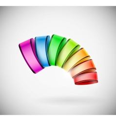 Colorful 3D icon vector image vector image