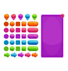 cute colorful abstract assets for game or web vector image vector image