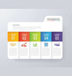 infographic tab index design and marketing vector image vector image