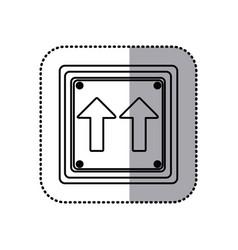 Sticker silhouette square shape frame same vector
