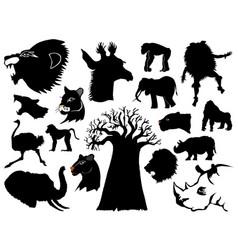 african wildlife vector image vector image
