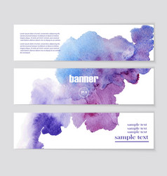 banner with beautiful watercolor spots vector image vector image
