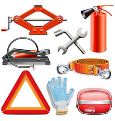 Car Accessories vector image