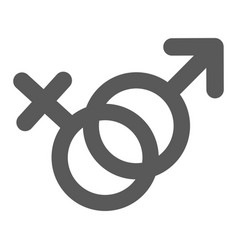 female and man gender symbol icon simple vector image vector image