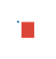 flat icon knit needle element vector image