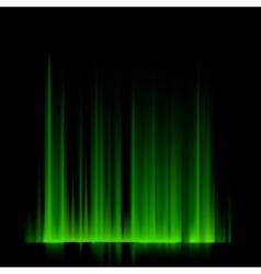 Green northern lights aurora borealis EPS 10 vector image vector image