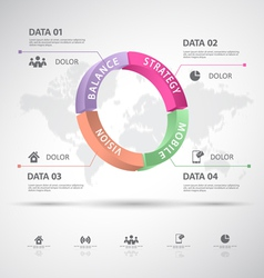 Infographic 3d data vector image vector image