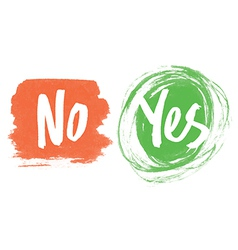 yes and no vector image
