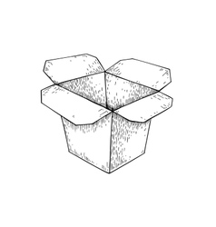 Chinese food box drawing Isolated vector image