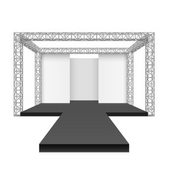 fashion runway podium stage metal truss system vector image
