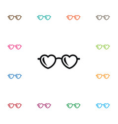Isolated spectacles icon glasses element vector