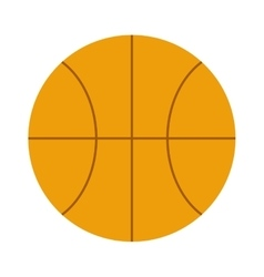 Orange basketball ball sport equipment competition vector image vector image