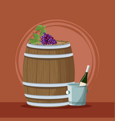 wine and winery vector image vector image