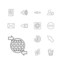 13 internet icons vector