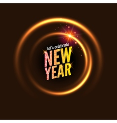 2017 new year background glowing circle frame vector image
