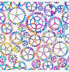 abstract gear seamless pattern vector image