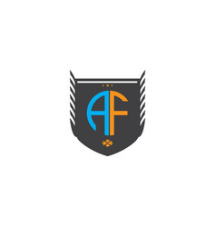 Af-letter-logo-design vector