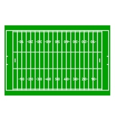 American Football Field with Line and Grass vector