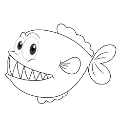 animal doodle for fish vector image