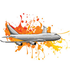 art colored airplane flying vector image