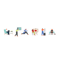 artistic and creative people flat isolated vector image