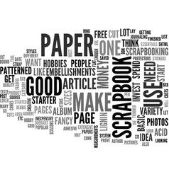 Basic scrapbook essentials text word cloud concept vector