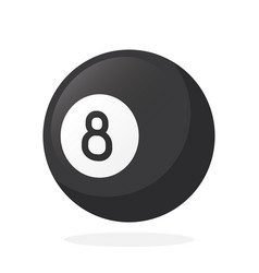 black billiard ball number eight vector image