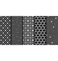Black seamless patterns vector