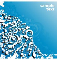 blue abstract art corner design vector image