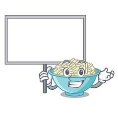 Bring board rice bowl character cartoon vector