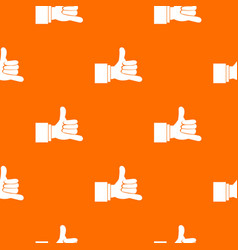 call me gesture pattern seamless vector image
