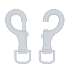 Carabiner icon isolated vector