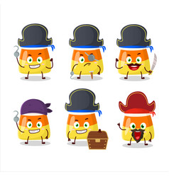 Cartoon character candy corn with various vector