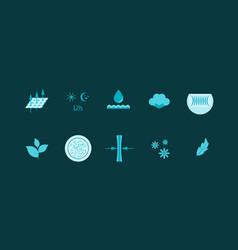 cartoon diaper characteristics color icons set vector image