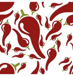 chilli seamless pattern vector image