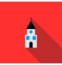 Church icon in flat style vector