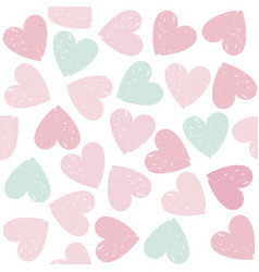 Colorful hearts seamless pattern on valentines day vector