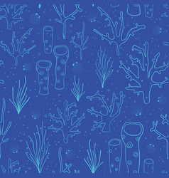 coral reef blue seamless background vector image