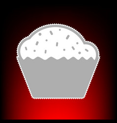 cupcake style on vector image