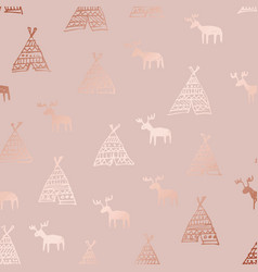 Deer rose gold luxurious delicate texture with a vector