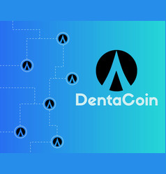 dentacoin blockchain technology world style vector image