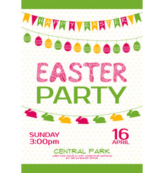 Easter party invitation poster vector