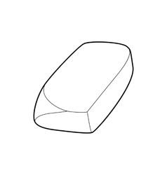 Eraser icon outline style vector