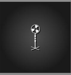 fan air conditioner icon flat vector image
