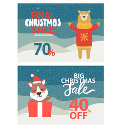 final christmas sale 70 on vector image