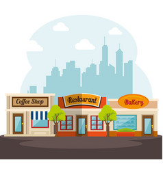 Food-related places design vector
