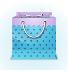 Gift shopping bag vector