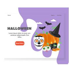 halloween website landing page design vector image