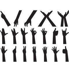 Hand gesture vector image